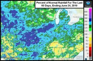 Central U.S. Recovering From Significant Rain Of Last 60 Days