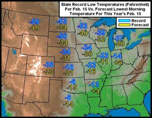 U.S. South Plains May See Record Cold After Snowstorm